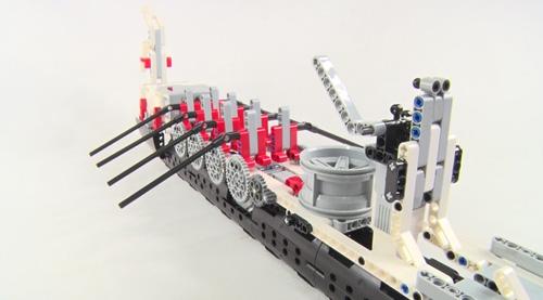 童程童美 乐高机器人龙舟